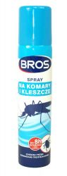 Spray na komarom i kleszczom 90ml Bros