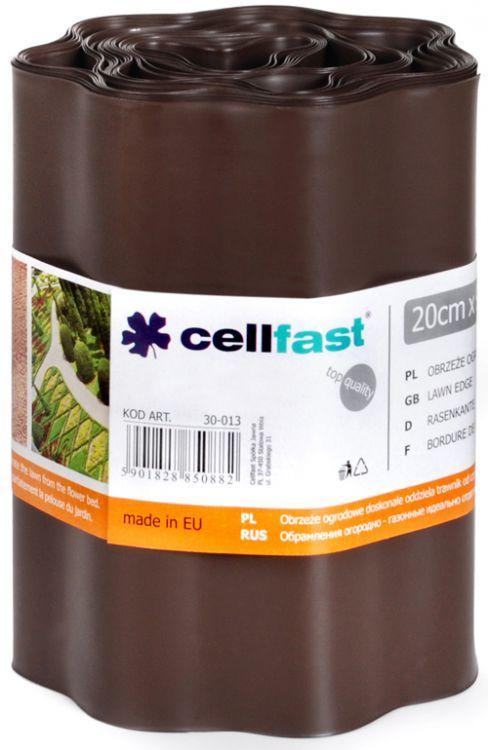 Obrzeże ogrodowe brąz 20cm 9mb Cellfast