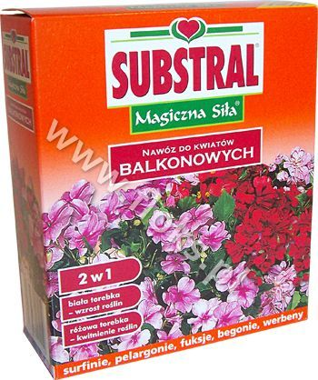 Nawóz do kwiatów balkonowych 2w1 Magiczna siła 2x200g Substral