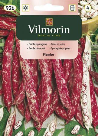 Fasola szparagowa biało-czerwona Flambo 30g Vilmorin